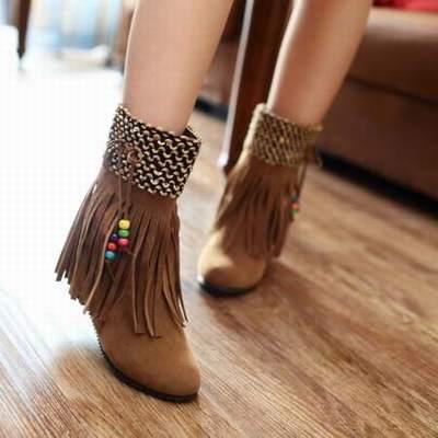 bottines franges indiennes pas cher,chaussure des indiens d amerique du  nord,chaussure inspiration indienne 3890f4101ee1