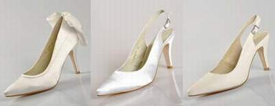 fbc2b32fbdb chaussure ivoire pour mariee